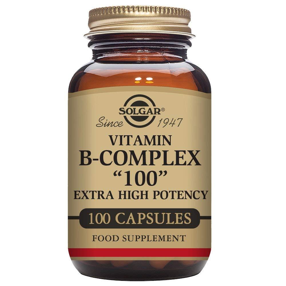 Solgar B-Complex ''100'', Energy Metabolism, Non-GMO, 100 Vegetable Capsules