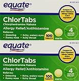 Equate: Chlortabs Tablets Antihistamine, 200 ct