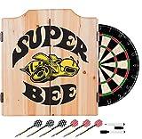 Dodge Super Bee Design Deluxe Solid Wood Cabinet Complete Dart Set