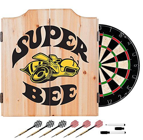 Dodge Super Bee Design Deluxe Solid Wood Cabinet Complete Dart Set by TMG