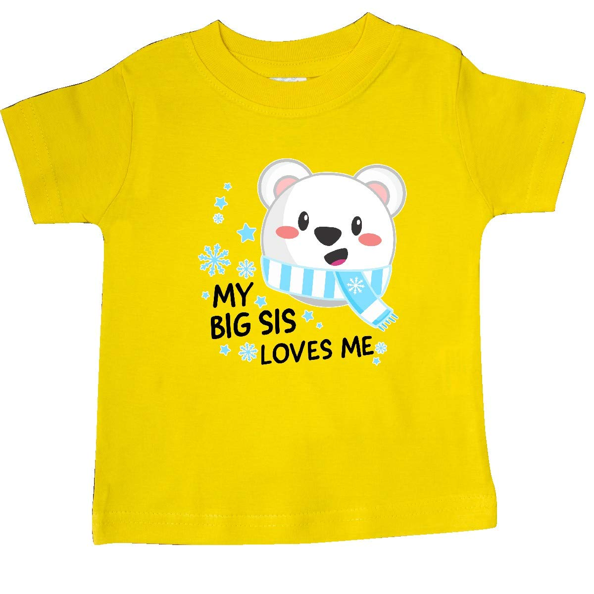 Polar Bear Baby T-Shirt inktastic My Big Sis Loves Me