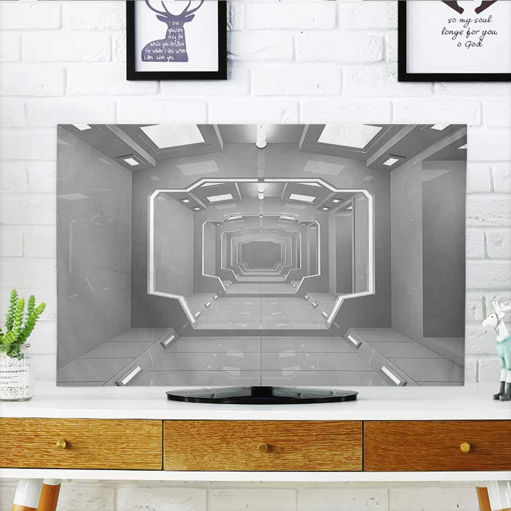 Front Flip Top Super Science Based Light Travel to Planet Solar System Explore Gray Front Flip Top W19 x H30 INCH/TV 32''