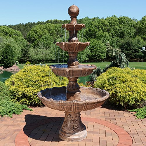 Sunnydaze Large Tiered Ball Outdoor Fountain, 80 Inch Tall by Sunnydaze Decor