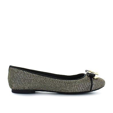 officiell butik försäljning av skor san francisco Michael Kors Alice Glitter Chain Mesh Black & Gold Ballet Flats 41 ...
