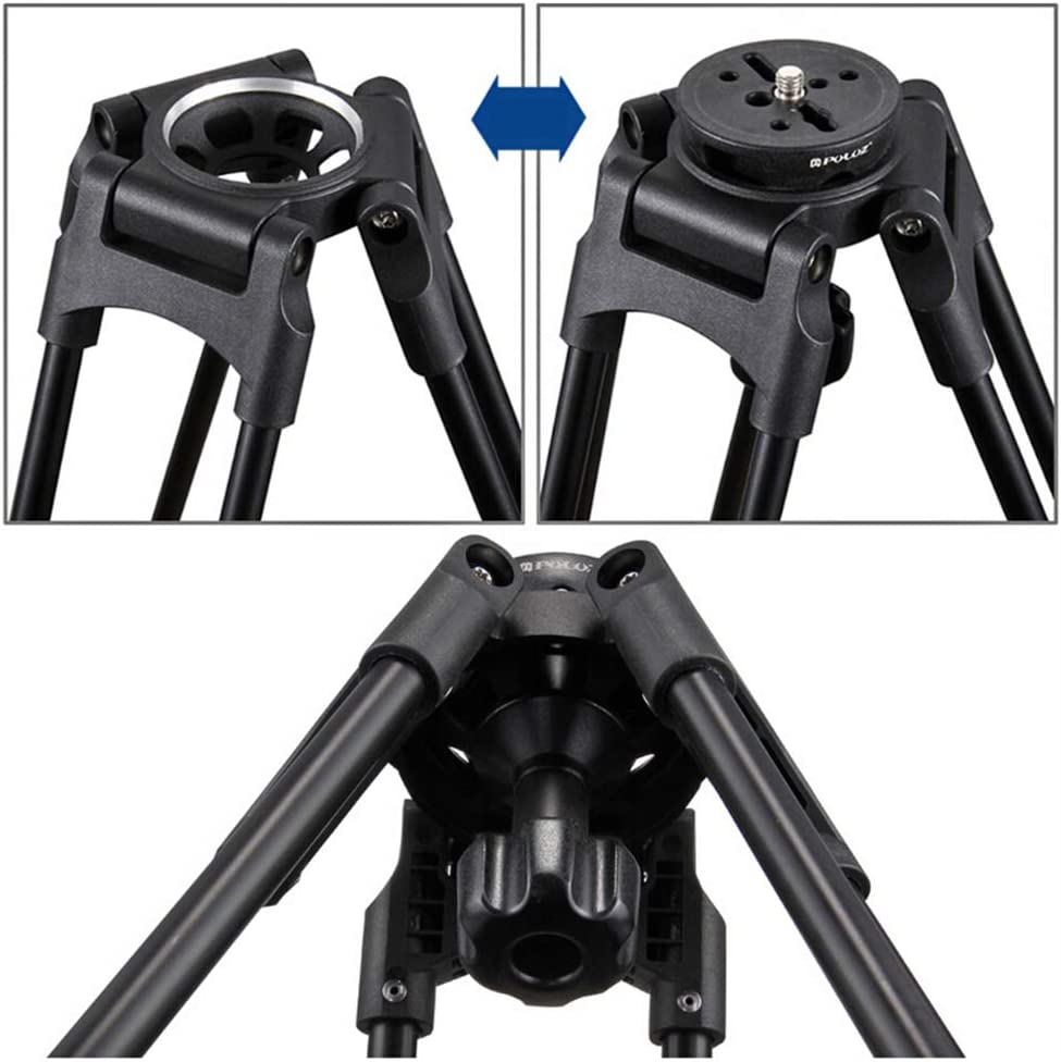 1 Pc Tripod Bowl Mount Adapter 75mm Aluminum Alloy Flat to Bowl Converter with 3//8 Screw Mount Rotation Head for DSLR SLR Camera
