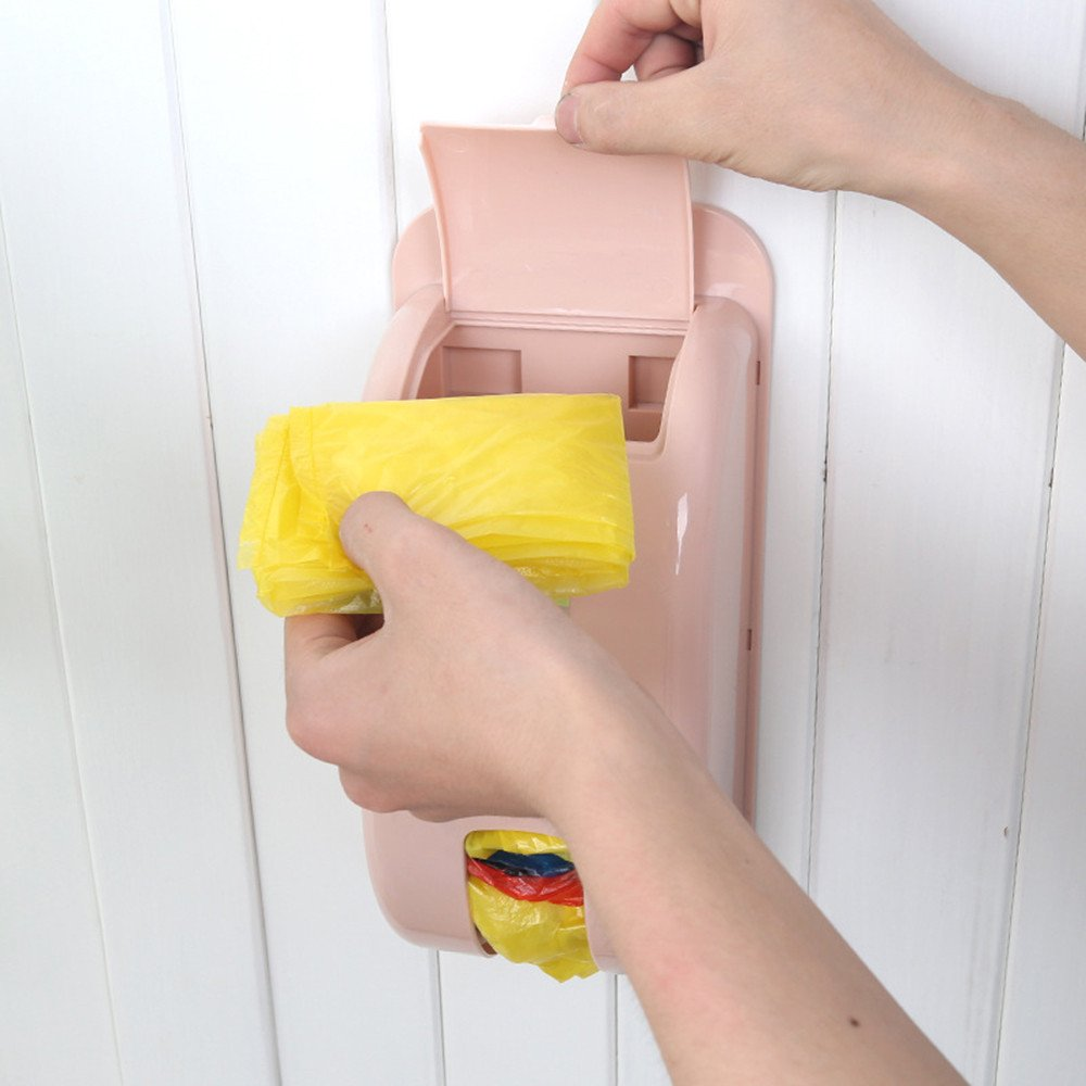 1-2 Home Garbage Holder Wall Mount Storage Dispenser Kitchen Organizer Tools UK