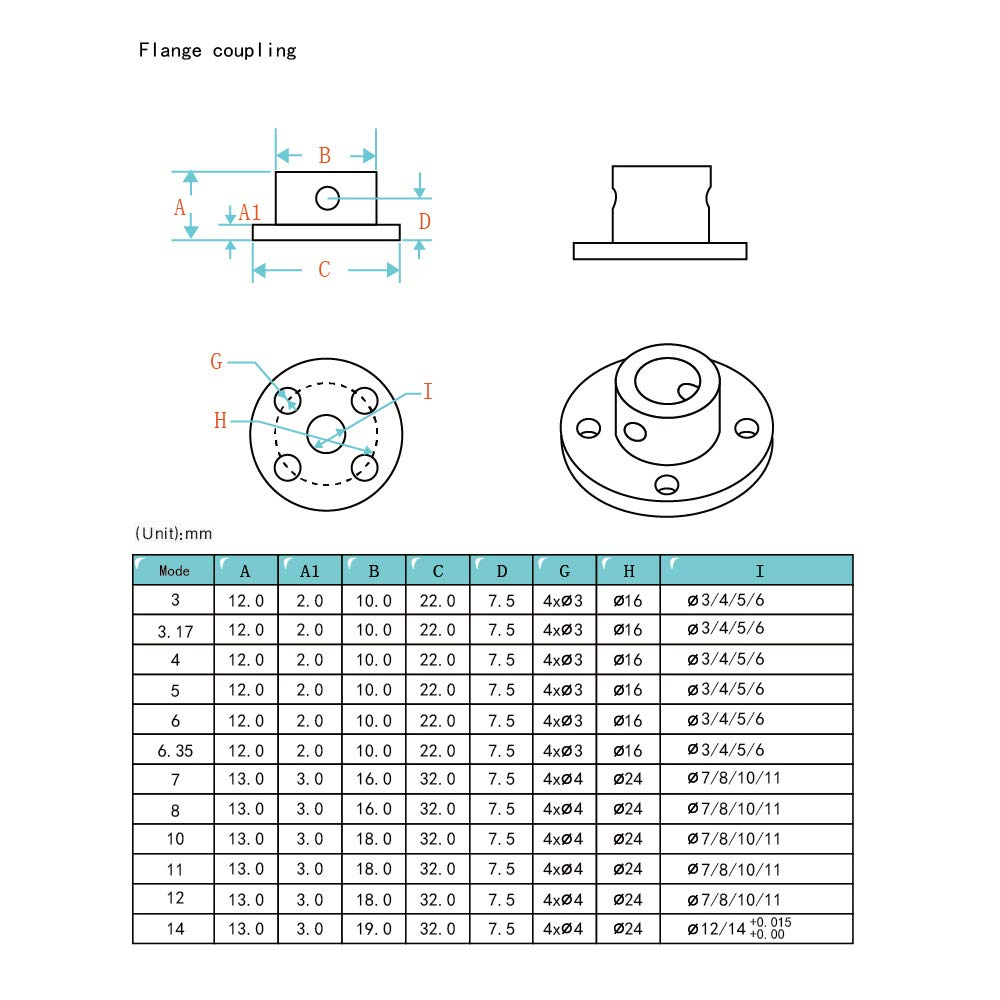 Befenybay 4 Pcs 8mm High Hardness Metal Rigid Flange Shaft Coupling with Screws for RC Model Motor 8mm