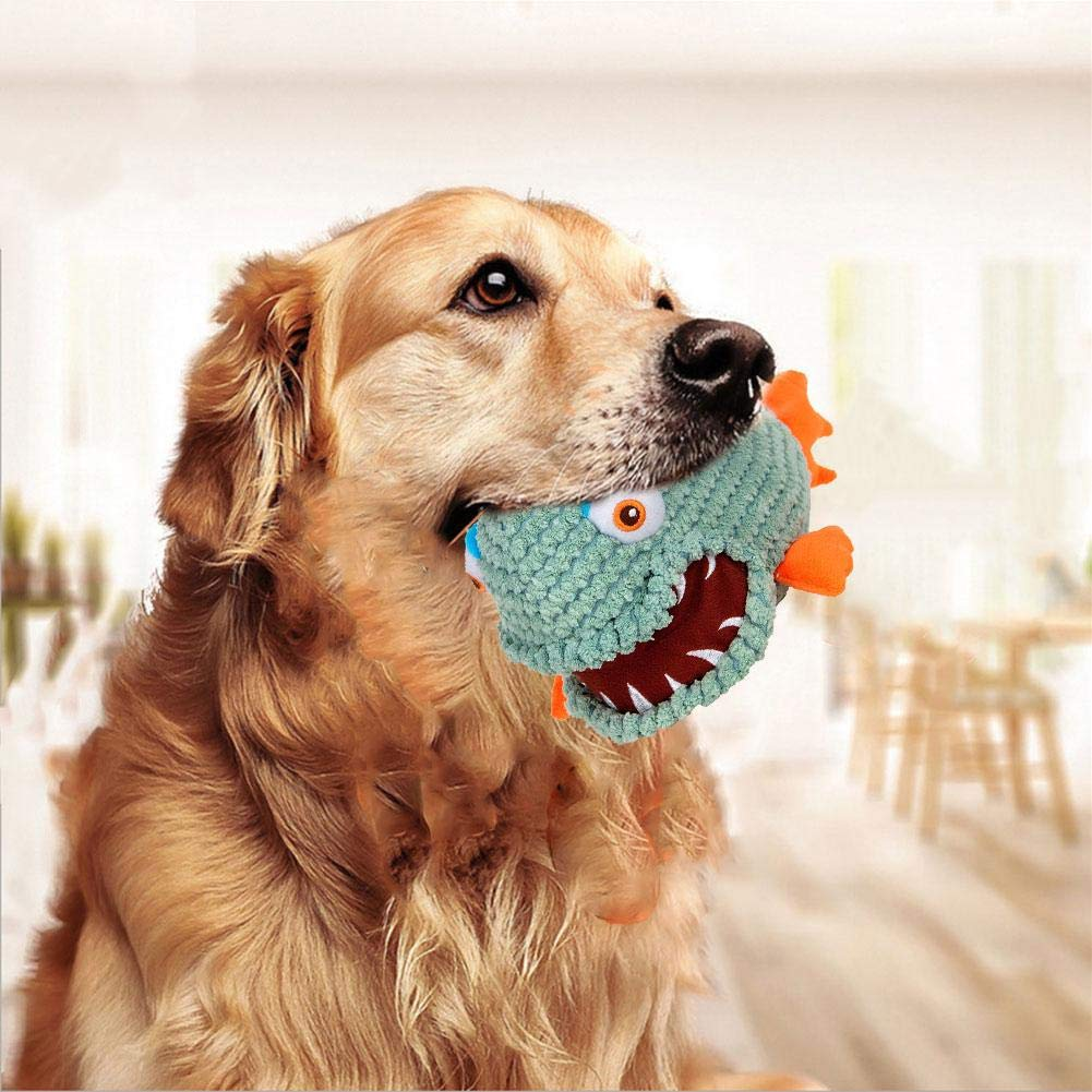 iBaste Squalo Carino Suono Giocattolo Interattivo per Cane da Compagnia Durevole Giocattolo di Cani Stridulo