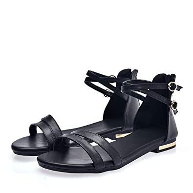 2dd707c3c Hot Popular Ladies Shoes with Zip White Black Casual Female Sandals Women  Flats