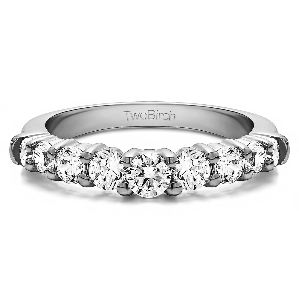Diamonds (G-H,I2-I3) Delicate Shadow Band In Sterling Silver(0.33Ct)Size 3 To 15 in 1/4 Size Interval
