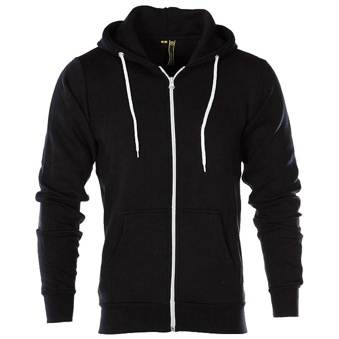 5d2b27d0713d Raiken® Apparel Flex Fleece Zip Up Hoody Hoodie Jumper Mens Size   Amazon.co.uk  Clothing