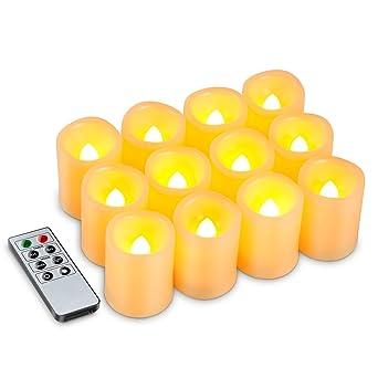 Amazon.com: Kohree Flameless Battery Operated LED Pillar Candles ...