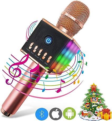 ERAY Micrófono Inalámbrico Karaoke, Micrófono karaoke Bluetooth, 2 ...