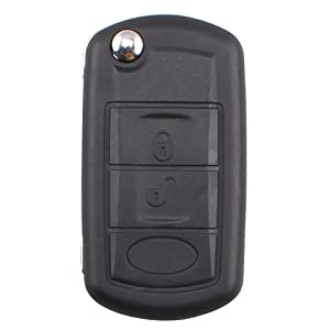 For Land Rover Discovery LR3 Range Rover Sport 3 Buttons New Uncut Flip Remote Key Shell Car Case (Just a Empty key shell with uncut blade, No Chips Inside)
