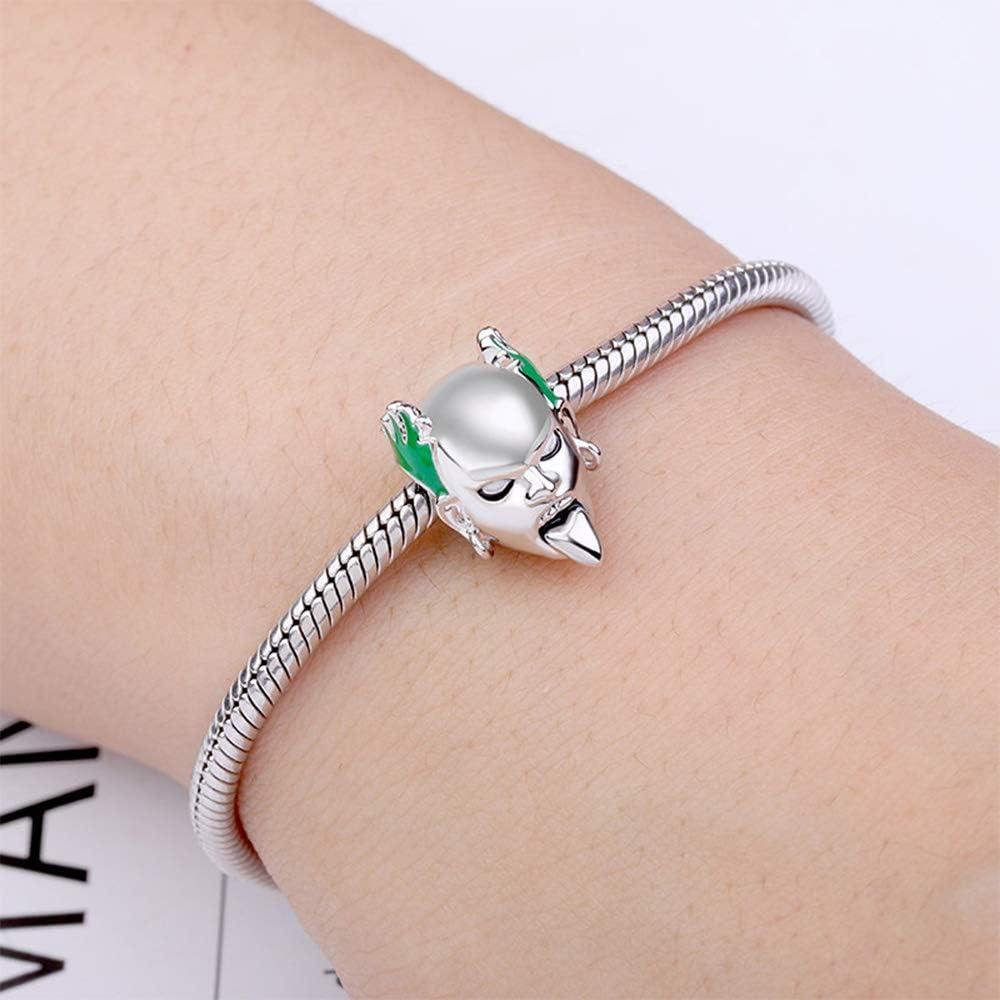 Gnoce Keith Flint Charm Bead 925 Sterling SilverFirestarter Bracelet Charm fit for Bracelet//Necklace Music Lovers