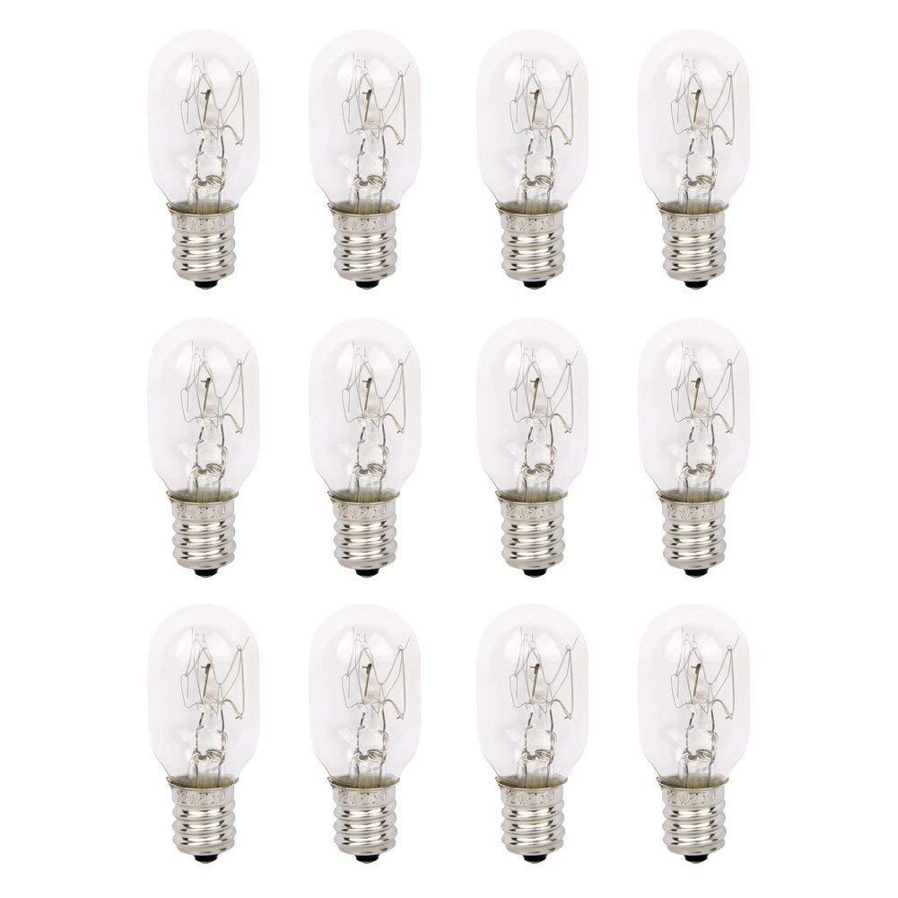 2 Pack 15 Watt Himalayan Salt Lamp Bulbs Original Replacement Long Lasting Incandescent Bulbs E12 Socket