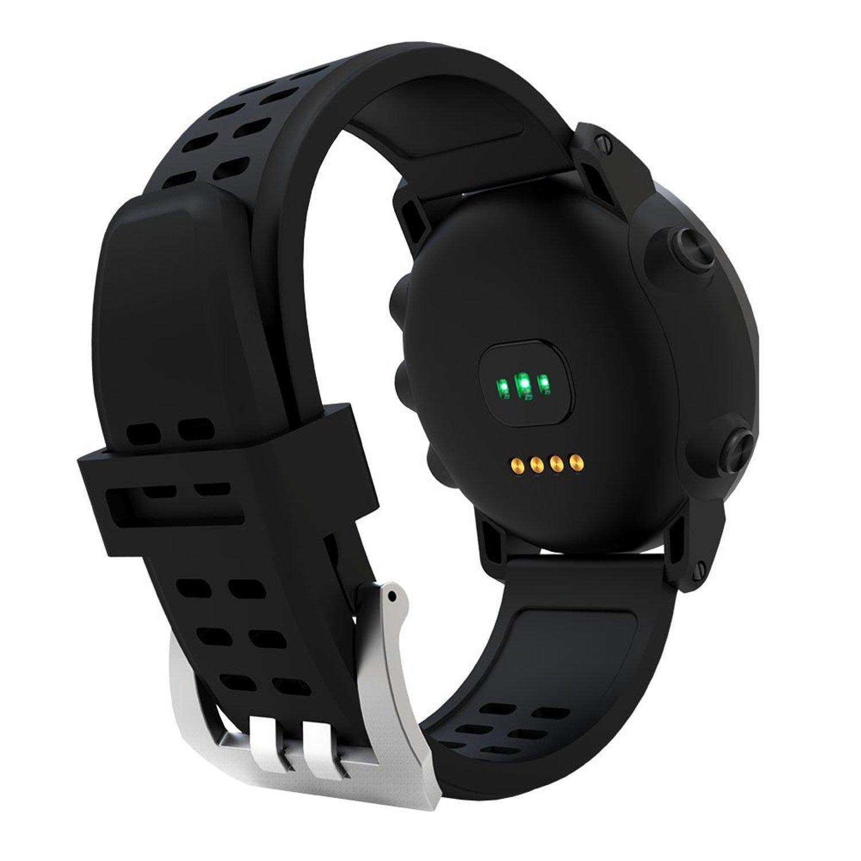 UWEAR Multi-Sport Montres intelligentes GPS étanche à leau et à la course à pied Sport Watch with Heart Rate Monitor / SOS / Compass / Weather / Barometer ...