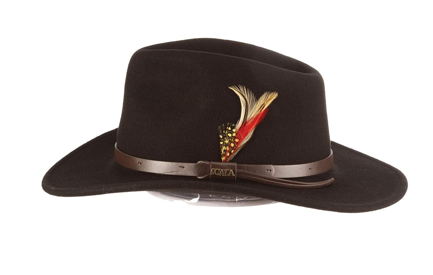 3d3197b4 Scala Classico Men's Crushable Felt Outback Hat at Amazon Men's Clothing  store: Cowboy Hats