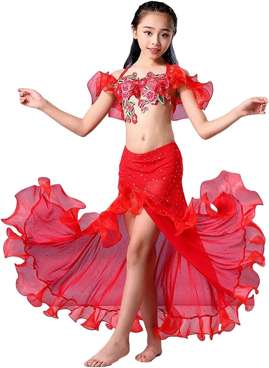 Grouptap Bollywood Indien Baby M/ädchen Kinder kleine Prinzessin arabischen Bauchtanz Kleid Kost/üm rot//blau//gelb Top Rock Phantasie Kind Outfit 100-140 cm
