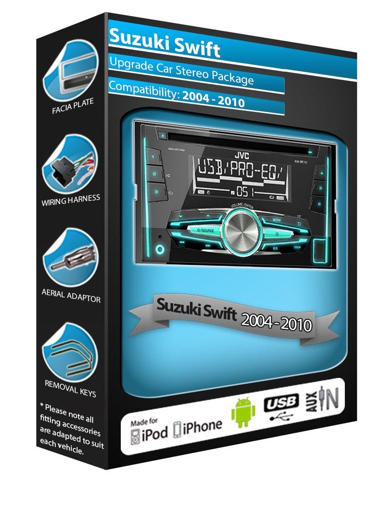 Suzuki Swift CD player radio, JVC car stereo with front: Amazon.co ...