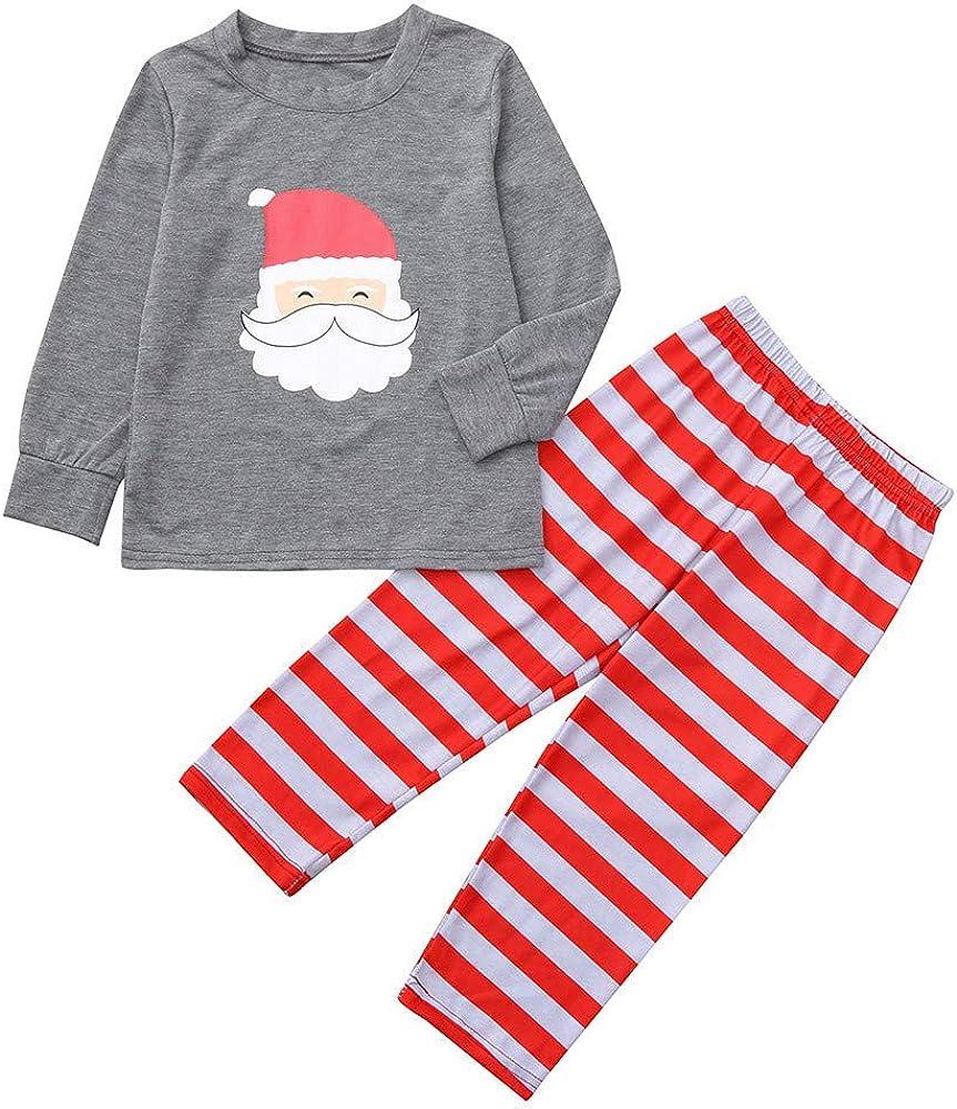 Weihnachtspyjama Familie Weihnachten Schlafanzug Kapuzenpullover und Hose Set Weihnachtskost/üm f/ür Herren Damen Kiner Christmas Outfit