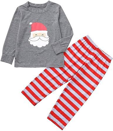 cinnamou Pijama Familiar NavideñO Conjunto De Pijama Tops ...