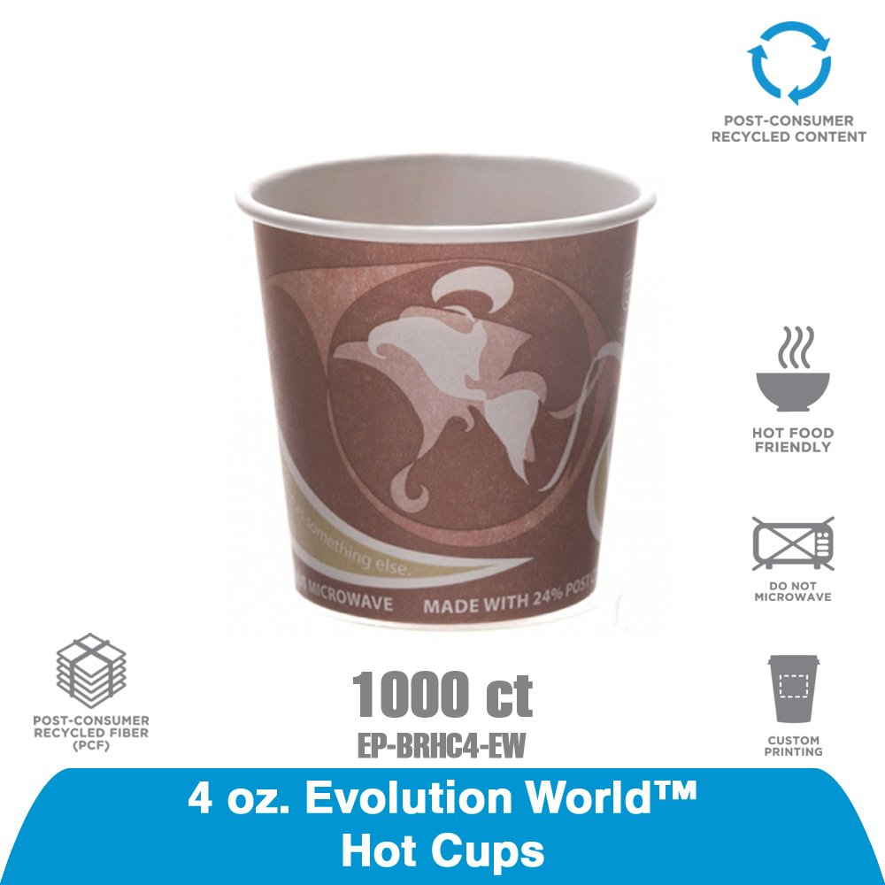 Eco-Products EP-BRHC12-EW 12-Ounce Evolution World Hot Cup-Case of 1,000
