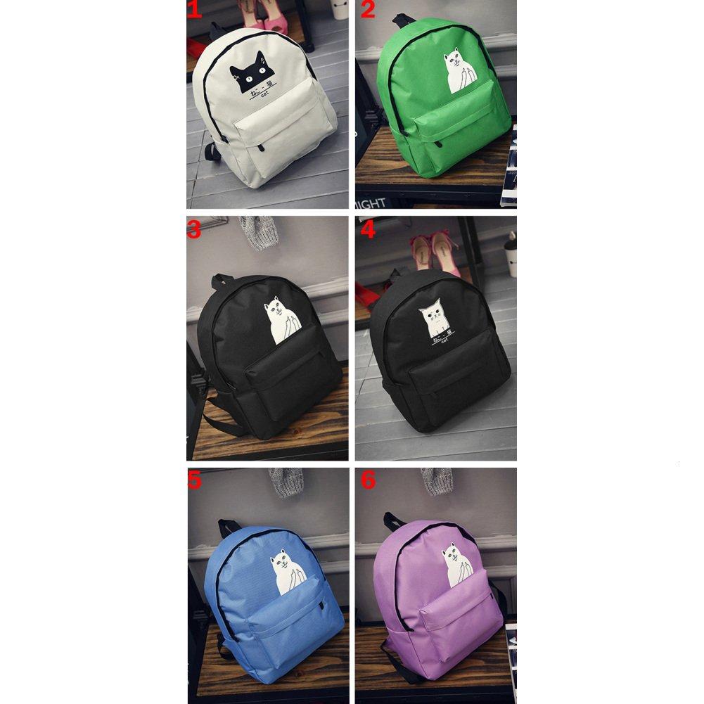 Mango King niña bolsa escuela para mujer lienzo diseño de gatos cute casual mochilas marrón multicolor4: Amazon.es: Oficina y papelería