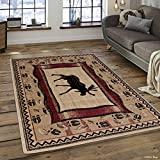 Allstar 8 X 11 Berber Woven Soft Southwest Moose Theme Area Rug (7′ 7″ X 10′ 6″) Review