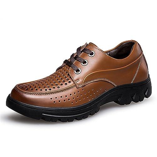 ailishabroy Zapatos de Verano de Cuero Respirable para