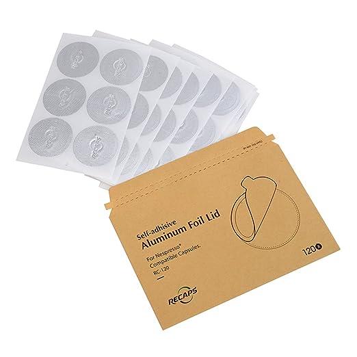 14 opinioni per RECAPS Coperchi in alluminio per capsule Nespresso riutilizzabili Guarnizioni in