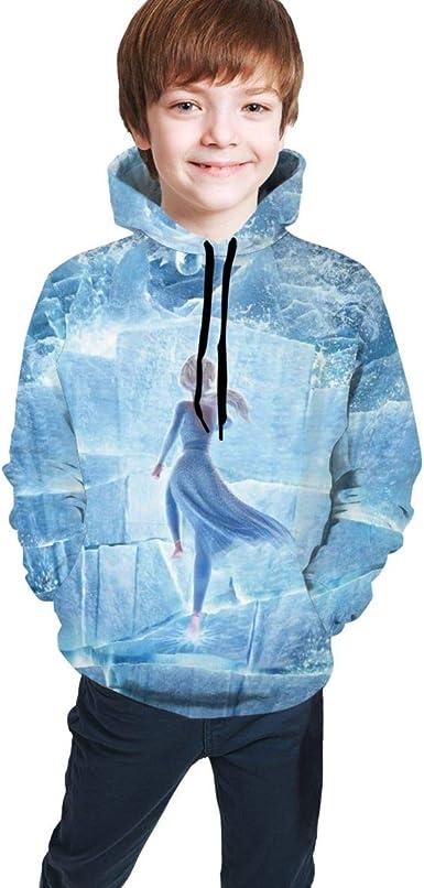 con capucha y forro polar Sudadera con capucha unisex para ni/ños para ni/ños y ni/ñas para deportes y para la escuela