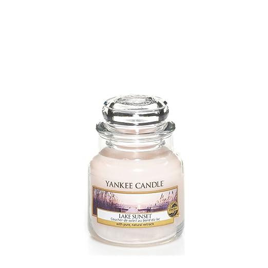 3 opinioni per Yankee candle 1270619E Lake Sunset Candele in giara piccola, Vetro, Rosa,