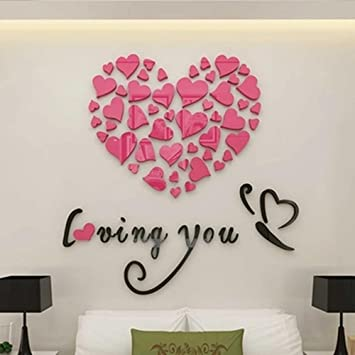 Amazon Com Liudaye Love Butterfly 3d Stereo Wall Stickers Bedroom Bedside Wedding Room Decorate The Living Room Warm And Romantic Wall Stickers Furniture Decor,Baby Closet Organizers Ideas