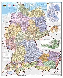 landkarte deutschland und österreich Deutschland Österreich Schweiz Postleitzahlen  und