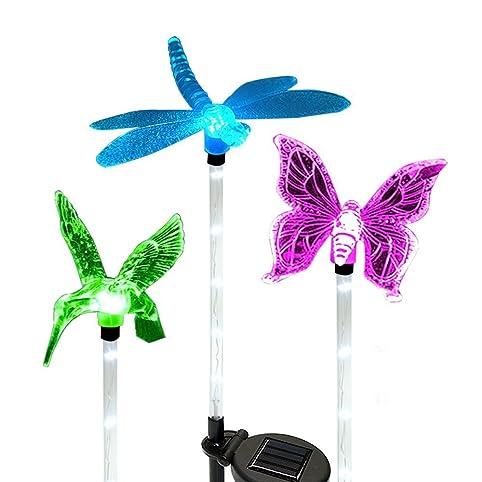 Solar Garden Lights,Hummingbird,Butterfly U0026 Dragonfly Solar Garden Stake  Light,Solar Powered