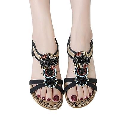 Calzado Chancletas Tacones Zapatos de mujer Bohe Fashion Talla grande Sandalias casuales Zapatos de playa ❤️ Manadlian