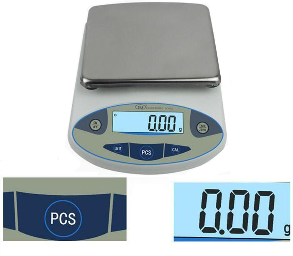 High Precision Lab Analytical Electronic Balance Digital Precision Scale Laboratory Precision Weighing Electronic Scales Balance Jewelry Scales Gold Balance Kitchen Scales (5000g, 0.01g) by CGOLDENWALL (Image #2)