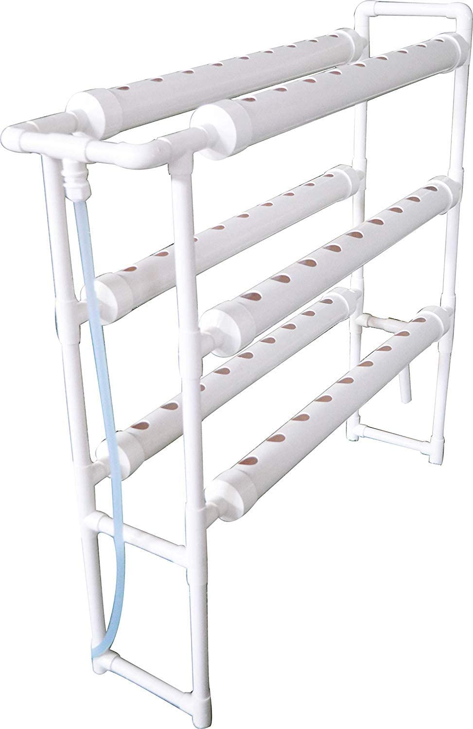 "INTBUYING Hydroponic 54 Holes Plant Site Grow Kit Garden System Vegetable Vertical Style Double Side -6 Pipes 3 Layer (Diameter of The Growing Pipe: 2.5"")"