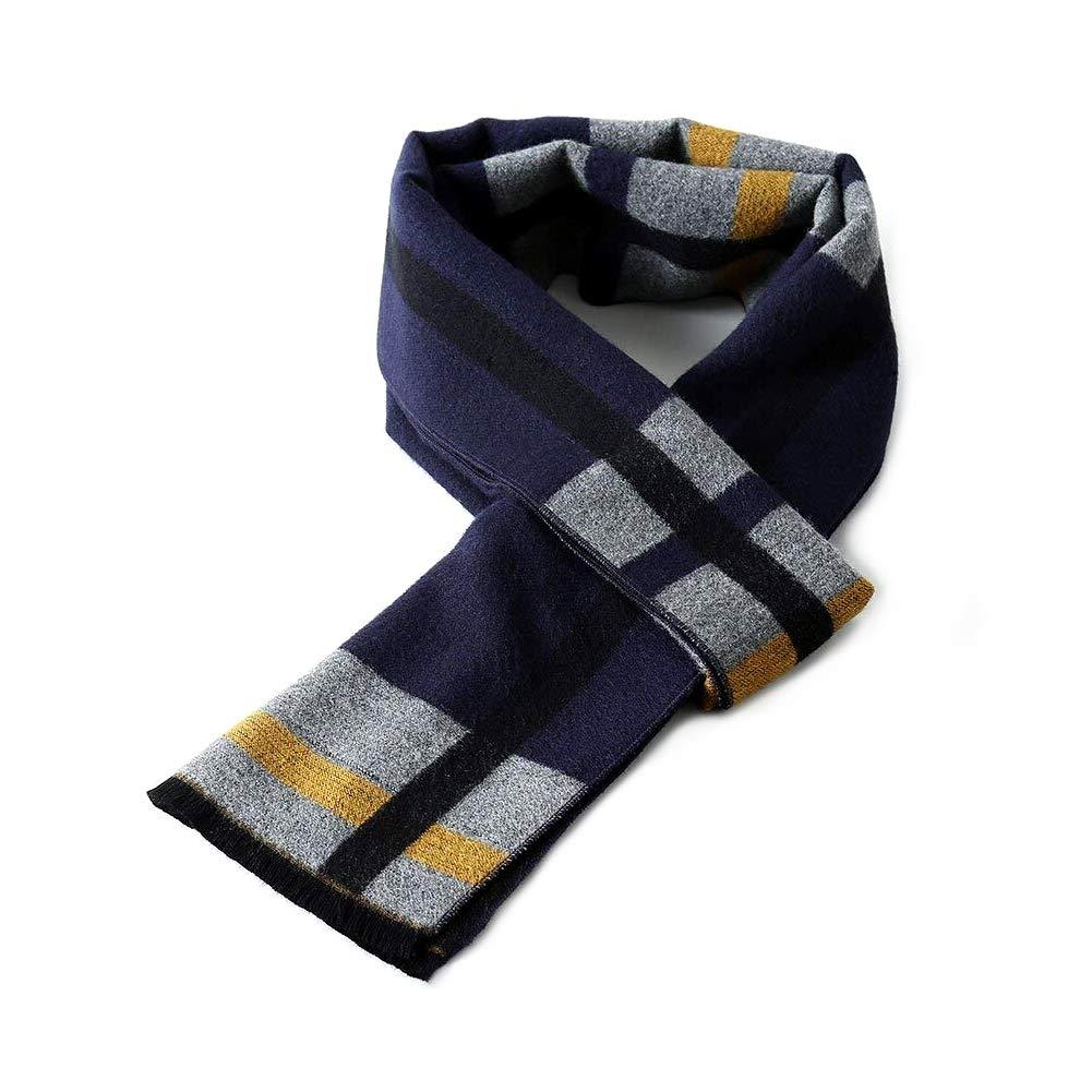 FRIDIROU Super Soft Winter Cashmere /& Wool Blend Scarf for Men 70x12