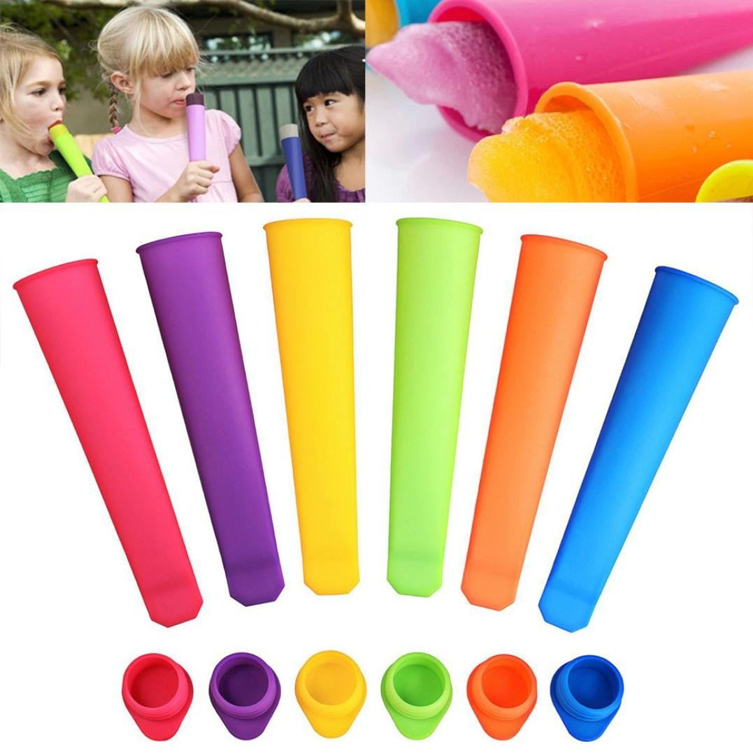 Bomdes 6x Silicone Push Up Frozen Stick Ice Cream Pop Yogurt Jelly Lolly Maker Mould Hao Tech