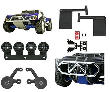 Amazon rpm traxxas slash 2wd complete chrome bumper kit wheelie rpm traxxas slash 2wd complete chrome bumper kit wheelie bar mud flaps light canisters aloadofball Gallery