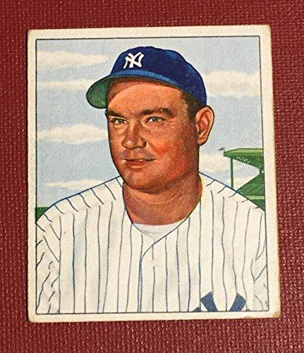 1950 Bowman #139 Johnny Mize Yankees MLB Baseball Card G Good