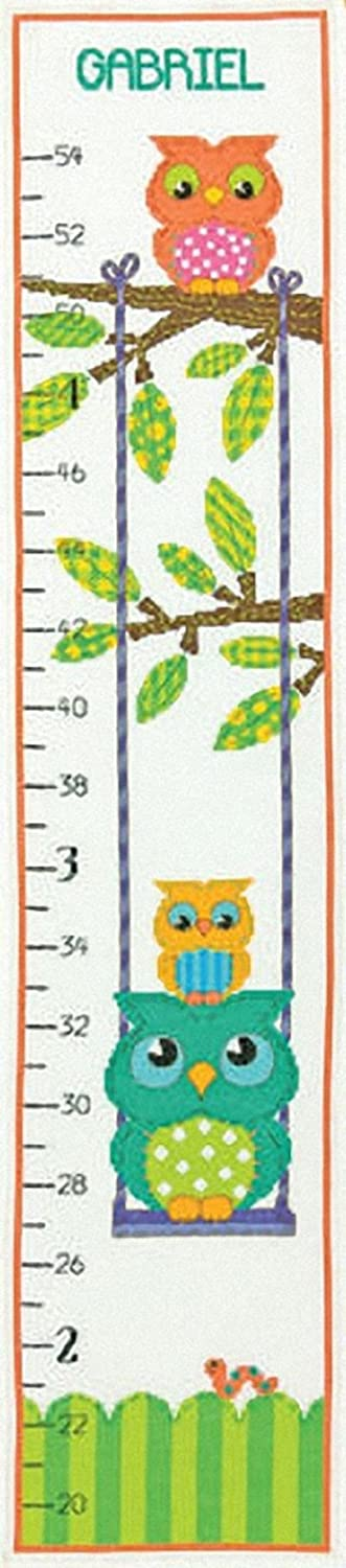 Dimensions Needlecrafts Counted Cross Stitch Owl Growth Chart