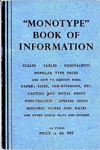 Monotype Book of Information, 1950: Amazon co uk: The