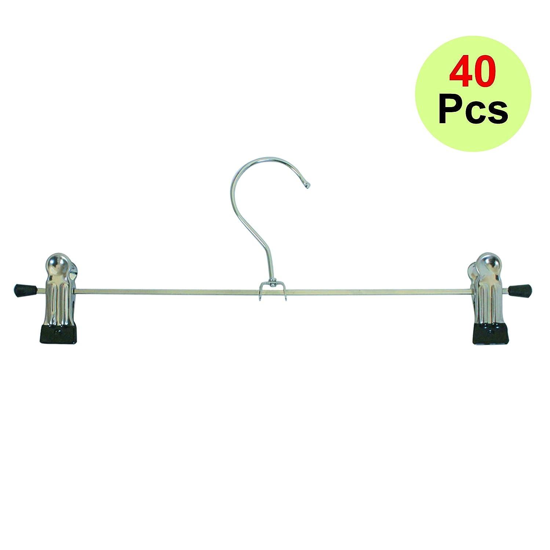 10 X Hosenspanner Hosenbügel aus Metall mit Klammern ca. 28cm (10 Stück) Mack