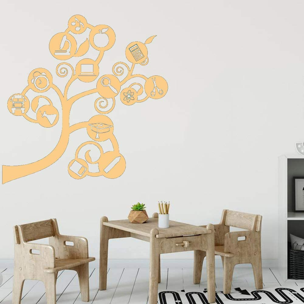 Science Tree Wall Stickers Vinilo Tatuajes de pared Volver a Shcool Brain Branch Study Decoración del hogar Accesorios para sala de estar color-2 57x58cm: Amazon.es: Bebé