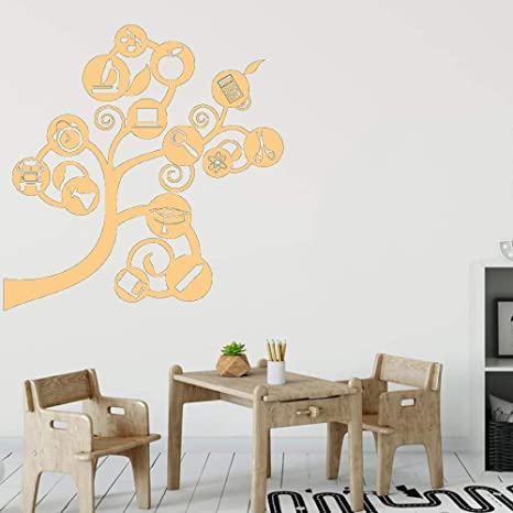 Science Tree Wall Stickers Vinilo Tatuajes de pared Volver a Shcool Brain Branch Study Decoración del hogar Accesorios para sala de estar color-2 57x58cm: Amazon.es: Bebé