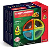 MAGFORMERS Curve (20 Piece) Building Set, Rainbow