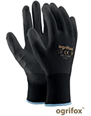 24pares de guantes de seguridad con revestimiento negro, para trabajo en jardín o construcción